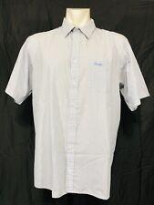 Pringle of Scotland Short Sleeved Check Shirt Mens XL Blue White
