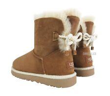 UGG Australia Selene Bailey Bow Rope Chestnut Fur Boots Womens Size 11 *NIB*