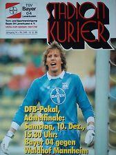 Programm Pokal 1988/89 Bayer 04 Leverkusen - Waldhof Mannheim