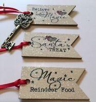 Santa's Magic Key Christmas Eve Wood Tags Santa's Treat Reindeer Food Believe