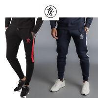 Gym King New Tracksuit Bottoms Stripe Panel Fleece Joggers Jogging Pants 0008