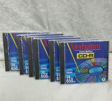 Verbatim DataLifePlus CD-R 650mb 74min Compact Disk Recordable Sealed 6 packs