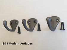 Single Coat Hook Iron Antique Modern Classic Vintage Black Grey Hat Rack Set 3