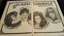 Claudia Cardinale Rare Original 1969 Promo Poster Ad Framed!