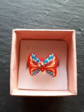 New childs red butterfly cute ring UK size J.5! Childrens kids jewellery!