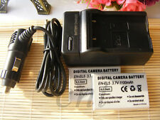 2 pack  Battery + Charger for Nikon Coolpix EN-EL5 P500 P510 P520 P530  Camera