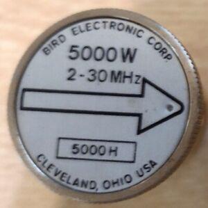 Wattmeter Element Slug 5000W 5kW 2-30 MHz Bird 43 5000H