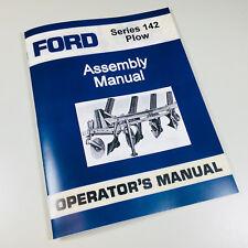 FORD SERIES 142 PLOW OPERATORS OWNERS MANUAL