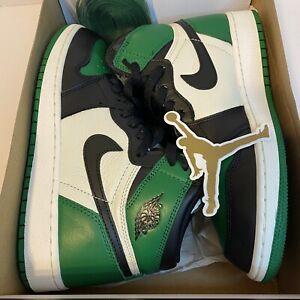 Nike Air Jordan 1 Retro High OG GS Pine Green Sail Black Sz 6Y 575441-302 I EUC