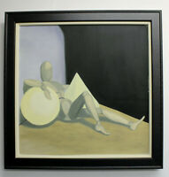 "Original Painting ""MANNEQUIN"" Oil on Canvas 28"" x 28"" FRAMED (Art/Abstract)"