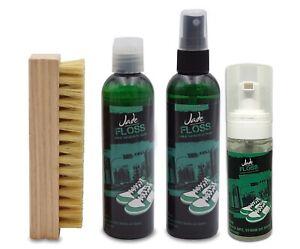 Jade Floss Sneaker Cleaner + Sole Cleaner 4oz + Brush kit + Foam Cleaner 2oz
