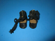 Vintage HTF Black Oilcloth Shoes For Mary Hoyer Boy Dolls
