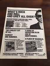 "1982 Vintage 8X11 Print Ad For Graham Parker ""Another Grey Area"" Album Promo Ad"