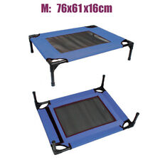Dog Pet Cat Elevated Bed Portable Outdoor Indoor Trampoline Heavy Duty Blue NEW
