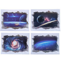 Solar System Outer Space Themed 3D Universe Galaxy Wall Stickers DecorationJC3C
