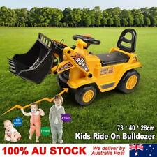 Kids Excavator Ride on Digger Bulldozer Loader Car Toddler Balance Bike Safe Fun