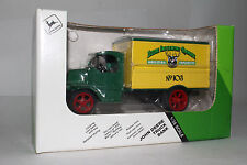 ERTL DIECAST 1926 MACK DELIVERY TRUCK, JOHN DEERE IMPLEMENTS, 1:38, BOXED