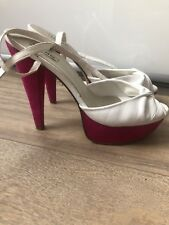 Dune Pink And White Platform Court Shoes Size 8 Uk 41