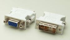 Adaptador Conversor de DVI-A 12+1 pines Macho a VGA Hembra 15 Pin