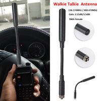 SMA Female Walkie Talkie Tactical Antenna UHF VHF for Kenwood BAOFENG Ham Radio
