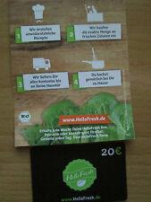Gutschein von Hello Fresh im Wert von 20 € Vegan oder Classicbox