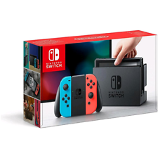 NINTENDO SWITCH + JOY-CON ROSSO/BLU NEON
