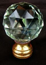 FRENCH NEWEL POST CRYSTAL FINIAL BALL *LARGE FACETED CRYSTAL* ANTIQUE c.1880