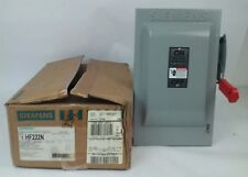 SIEMENS HF222N FUSIBLE SAFETY SWITCH 2P, 3 WIRE, 60A, 240V, 15HP, NEMA 1 INDOOR
