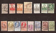 BELGIQUE 1894/1912 King Leopold et Albert 1, emblemees et St. Michel F238