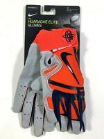 Nike Huarache Elite Baseball Gloves Orange Gray Mens Size Small $65