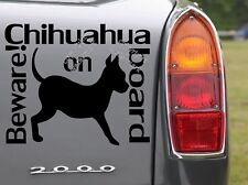 Chihuahua on Board Dog owner's Car Sticker Bumper Removable Decal Funny Decor UK