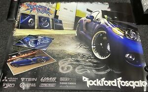 ROCKFORD FOSGATE Poster Mitsubishi car audio install installer Gear RF Fanatic