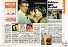 Coupure de presse Clipping 1988 (2 pages) Rock Hudson contre Henry Fonda