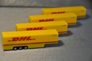 4 Herpa DHL Auflieger neuwertig Spur N 1:160 Top
