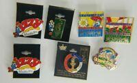 Lot of 7 1996 ATLANTA Centennial Olympics Pins Mascot Izzy Souvenir
