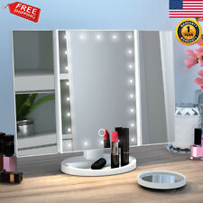 Touch Screen 22LED Makeup Mirror Tabletop Lighted Cosmetic Vanity 2/3xMagnifier