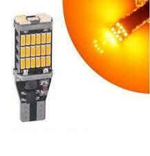 T15 Ampoule W16W 45 LED smd Orange Veilleuse freins arriere Canbus pour voiture
