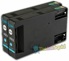 2 Cyan T7012 non-OEM Ink Cartridge For Epson Pro WP-4545DTWF WP-4595DNF