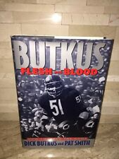 DICK BUTKUS FLESH AND BLOOD BOOK SIGNED