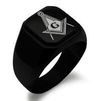 Stainless Steel Royal Initial Monogram Letter R Mens Hexagon Crest Signet Ring