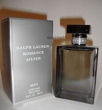 RALPH LAUREN ROMANCE SILVER MEN AFTER SHAVE LOTION 100 ML 3.4 FL OZ SPLASH NIB