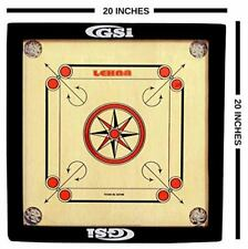 Gloss Finish Carrom Board Game For Kids & Children Free Coins Striker & Powder