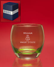 Personalised Engraved GREEN DOFW/Whisky/Brandy/Mixer Tumbler Glass+Message+Image