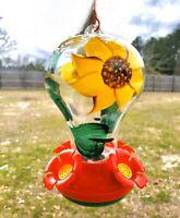 Garden Treasures Hand-Painted Hummingbird Feeder (New)