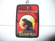 OA Itibapishe Iti Hollo Lodge 188,X-40?, 2014 Season Pass,Sunset Beaver,Patch,NC