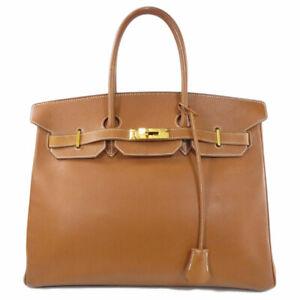 HERMES   Handbag Birkin 35 Gold Hardware Gold Courchevel