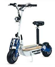 Moto scooter electrico 1600w 55 km/h patinete sillin plataforma madera blanco