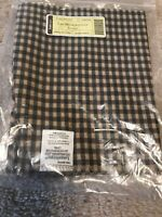 Longaberger~ Khaki Check Fabric Liner for Large Metropolitan Basket NIP