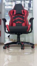 Game Chair Office PU Leather Chair Blue chair Adjustable 360° Black & Orange
