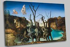 More details for salvador dali - swans reflecting elephants canvas art picture print